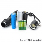 New-D109 270lm 3-Mode White Light Zooming Flashlight - Black (1 x 18650 / 3 x AAA)