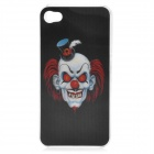 Stylish 3D Clown Ghost Protective Case Cover for Iphone 4 / 4S - Black