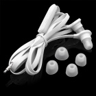 Wallytech Cool Noodle Shape In-Ear Earphone w/ 2 Pairs Earbuds - White (3.5mm-Plug / 120cm-Cable)
