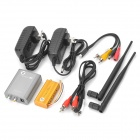 2.4GHz 2W Wireless Transmitter Receiver Kit - Silver + Yellow