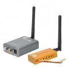 5.8GHz 1W Wireless Transmitter Receiver Kit - Silver + Yellow