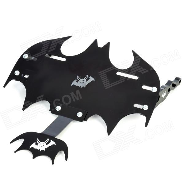 cool bat shape modified license plate frame for motorcycle black