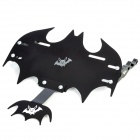Cool Bat Shape Modified License Plate Frame for Motorcycle - Black