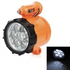 Car Cigarette Lighter Powered 0.8W 100lm 7-LED Cool White Light Car Emergency Lamp - Orange (12V)