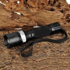 W110 Cree XP-E Q5 194lm 3-Mode White Light Zooming Flashlight - Black (1 x 18650)