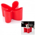 Multifunction Clover Style Plastic Remote Control Storage Box - Red