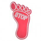 Special Decorative Foot Style Car Sticker - Red + Silver