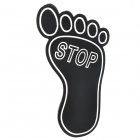 Special Decorative Foot Style Car Sticker - Black + Silver