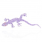 Lizard Pattern Rhinestone Car Decoration Sticker - Purple