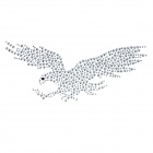 Eagle Pattern Rhinestone Car Decoration Sticker - Silver