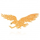 Eagle Pattern Rhinestone Car Decoration Sticker  Orange