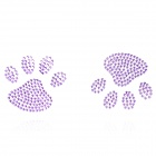Toe Pattern Rhinestone Car Decoration Sticker - Purple