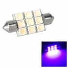 Festoon 38mm 1.62W 95lm 9-SMD 5050 LED Pink Purple Light Car Reading / Tail / Door Lamp (12~17V)