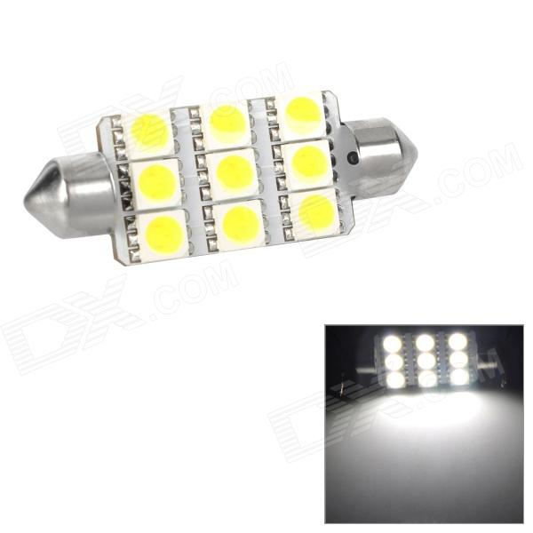 Festoon 44mm 1.62W 207lm 9-SMD 5050 LED White Light Car Reading / Tail / Door Lamp (12V) lx 3w 250lm 6500k white light 5050 smd led car reading lamp w lens electrodeless input 12 13 6v
