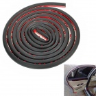 Window D Type Car Vehicle Door Rubber Hollow Noise Insulation Strip - Black (3m)