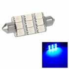 Festoon 44mm 1.62W 167lm 9-SMD 5050 LED Warm Blue Light Car Tail / Reading / Door Lamp (12V)