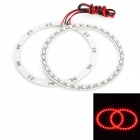 Waterproof 4.95W 264lm 33-SMD 1210 LED Red Car Angel Eye Lights - White (DC 12V / 100mm / 2 PCS)