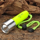New-607 250lm 5-Mode White Light Flashlight - Fluorescence Green (1 x 18650)