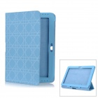 Checked Pattern Protective PU Leather Case for Samsung Galaxy Tab 2 10.1 P5100 - Blue