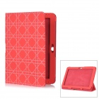 Checked Pattern Protective PU Leather Case for Samsung Galaxy Tab 2 10.1 P5100 - Red
