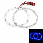 Waterproof 4.95W 450nm 33-SMD 1210 LED Blue Car Angel Eye Lights - White (DC 12V / 100mm / 2 PCS)