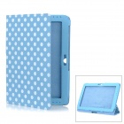 Polka Dot Style Protective PU Leather Case for Samsung Galaxy Tab 2 10.1 P5100 - Blue