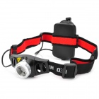 New-933 Cree XR-E Q5 160lm 2-Mode White Light Zooming Headlamp - Black + Silver (3 x AAA)