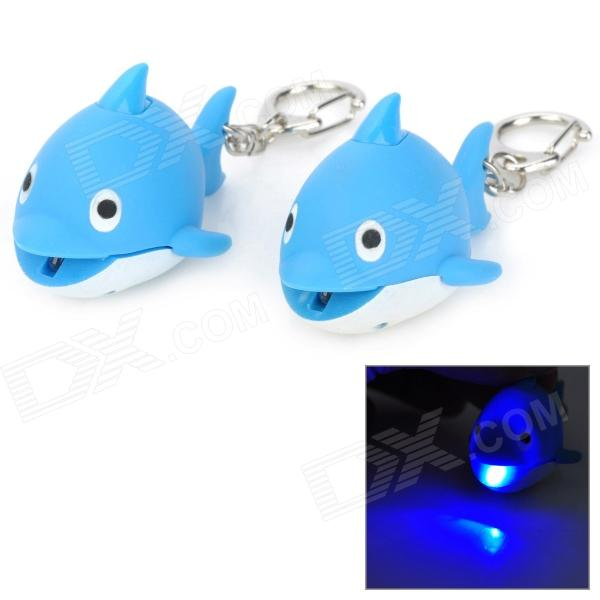 Adorable Dolphin Style Keychain w/ 1-White LED / Sound Effect - Blue (3 x AG10 / 2 PCS) lindner шкатулка kristina 11х11х12 см