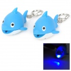 Adorable Dolphin Style Keychain w/ 1-White LED / Sound Effect - Blue (3 x AG10 / 2 PCS)