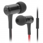 Awei Stylish In-Ear Earphone with Microphone for Iphone / Ipad + More - Black (3.5mm Plug)