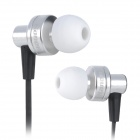 Kanen IP808 In-Ear Bass Stereo Earphone w/ Microphone - Silver (3.5mm Plug / 120cm)