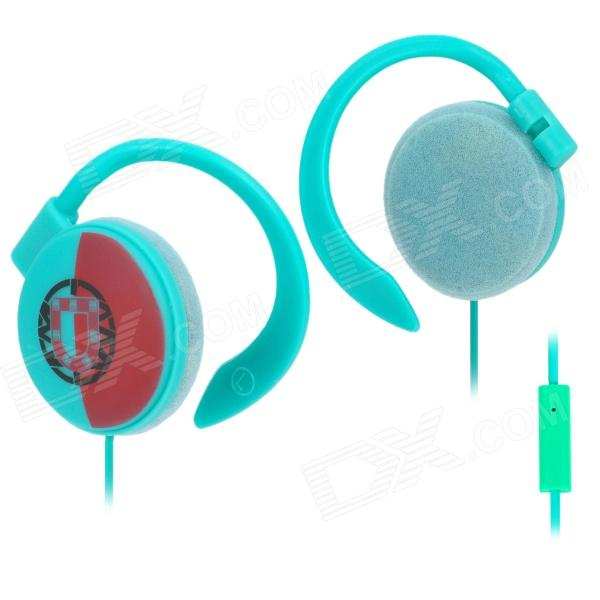 Portugal Flag Pattern Ear-Hook Earphone with Microphone (3.5mm Plug)