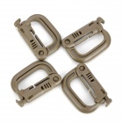 D-Ring Locking Carabiner - Earth (4 PCS)