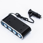Sockets isqueiro de 1-para-4 do cigarro do carro Power Adapter Splitter Switch w / Individual (DC 12 ~ 24V)