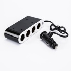 1-to-4 Car Cigarette Lighter Sockets Power Adapter Splitter w/ Individual Switch (DC 12~24V)