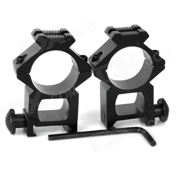 25mm en alliage d'aluminium Gun Rail Mount - Noir (2 PCS)