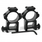 25mm Aluminum Alloy Gun Rail Mount - Black (2 PCS)