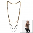 Fashion Zinc Alloy Vintage Multilayer Unisex Necklace - Mixed Color (4 PCS)