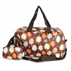 Colorful Water Resistant Folding Hand / Schulter Reisetasche - Brown