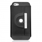 Protective PU Leather Rotatable Stand Case for Iphone 5 - Black
