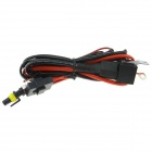 Waterproof H3 Xenon HID Relay Wiring Harness - Black + Red (145cm)