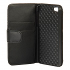 Protective Flip Cover PU Leather Case for Iphone 5 - Black