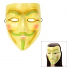 V for Vendetta Anonymous Guy Fawkes Plastic Mask - Glow-in-The Dark Yellow + Green