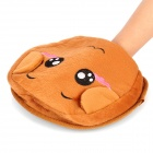 Cute Monkey Style USB Plush Hand Warmer Mouse Pad Mat - Brown