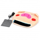 Cute Pig Style USB Plush Hand Warmer Mouse Pad Mat - Light Yellow