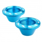 DIY Motorcycle Front Fork Decoration Protection Cup - Blue (2 PCS)