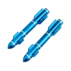 DIY Motorcycle Aluminum Long Rocket Nut - Blue (2 PCS)