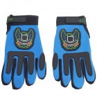 DIY Sports Motorcycle Motorbike Racing Handschuhe - Blue + Black (Größe-M / Paar)