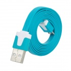 UNT-C39 USB Male to Micro USB Male Charging Data Flat Cable - Deep Green (95cm)