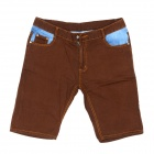 Guaimozai MF062 Causal Man's Short Straight Leg Jeans - Blue + Coffee (Size-36)